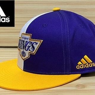 アディダス(adidas)の【US限定/フリーサイズ】 未使用 adidas × キングス キャップ NHL(キャップ)