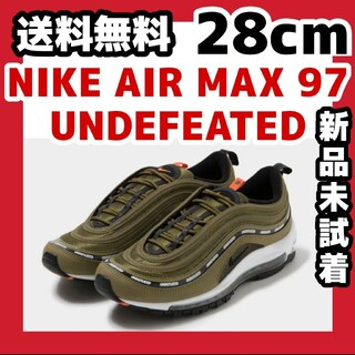 ナイキ(NIKE)の28cm UNDEFEATED x NIKE AIR MAX 97 OLIVE(スニーカー)