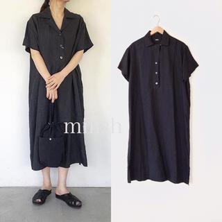 MARGARET HOWELL - 美品 2019 マーガレットハウエル リネン100%シャツドレス ワンピース