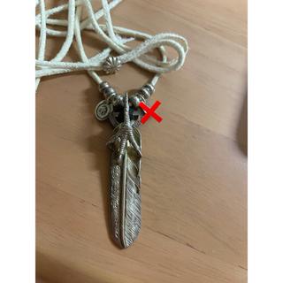 ゴローズ(goro's)の鷲見太郎 爪付きフェザー メタル ホイール セット(ネックレス)