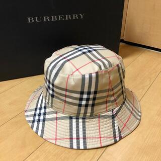 バーバリー(BURBERRY)のBURBERRY  リバーシブル帽子 難ありの為格安❗️(ハット)