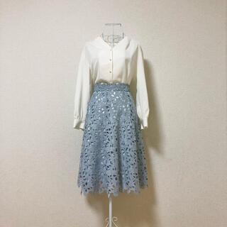 PROPORTION BODY DRESSING - proportion body dressing フラワー刺繍 フレアスカート