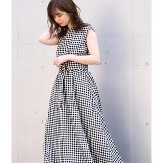 natural couture - べっ甲Dかん太ベルト涼しげワンピース
