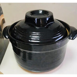 和平フレイズ 炊飯土鍋 (二重蓋) 5合炊 HR-8383 黒