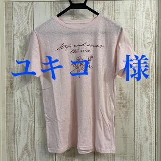 ディーホリック(dholic)の〜*******淡紅藤色・エクリュカラープリント半袖Tシャツ*******〜(Tシャツ(半袖/袖なし))