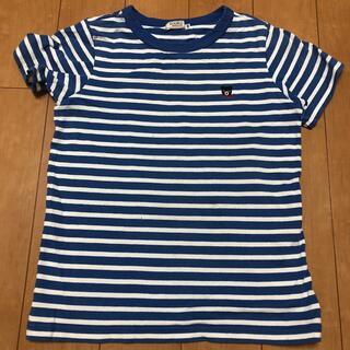 ダブルビー(DOUBLE.B)のDOUBLE.B ボーダーブルーTシャツ(Tシャツ/カットソー)