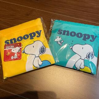 スヌーピー(SNOOPY)のエコバック(SNOOPY)2個セット(エコバッグ)