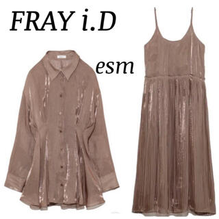 FRAY I.D - FRAY i.Dシアーレースアップブラウス、キャミワンピースセットアップ
