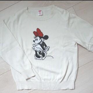 ユニクロ(UNIQLO)の【UNIQLO】ミニーマウス セーター 120㎝(Tシャツ/カットソー)