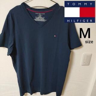 トミーヒルフィガー(TOMMY HILFIGER)の美品 Vネック トミーヒルフィガー 半袖Tシャツ カットソー メンズ Mサイズ(Tシャツ/カットソー(半袖/袖なし))
