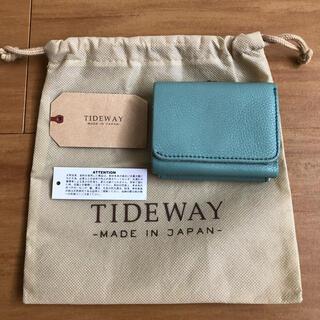 IL BISONTE - 【美品】TIDEWAY タイドウェイ ミニ 折り財布 ミントブルー