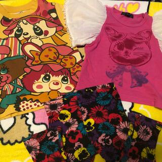グラグラ(GrandGround)の女の子 80cm まとめ売り 3枚セット Tシャツ レギンス(Tシャツ)