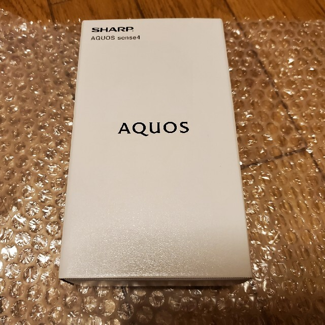 AQUOS(アクオス)の新品未開封 AQUOS Sense4 SH-M15 ブラック スマホ/家電/カメラのスマートフォン/携帯電話(スマートフォン本体)の商品写真
