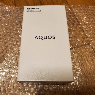 AQUOS - 新瓶未開封 AQUOS Sense4 SH-M15 ブラック