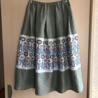mina perhonen - ミナペルホネン  ファブリックpath 使用 ハンドメイドスカート
