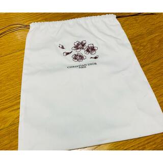 Dior - ディオール Cocomiデザイン 桜刺繍コットンポーチ 巾着