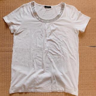 コムサイズム(COMME CA ISM)のスパンコール付き Tシャツ カットソー Lサイズ コムサイズム(Tシャツ(半袖/袖なし))