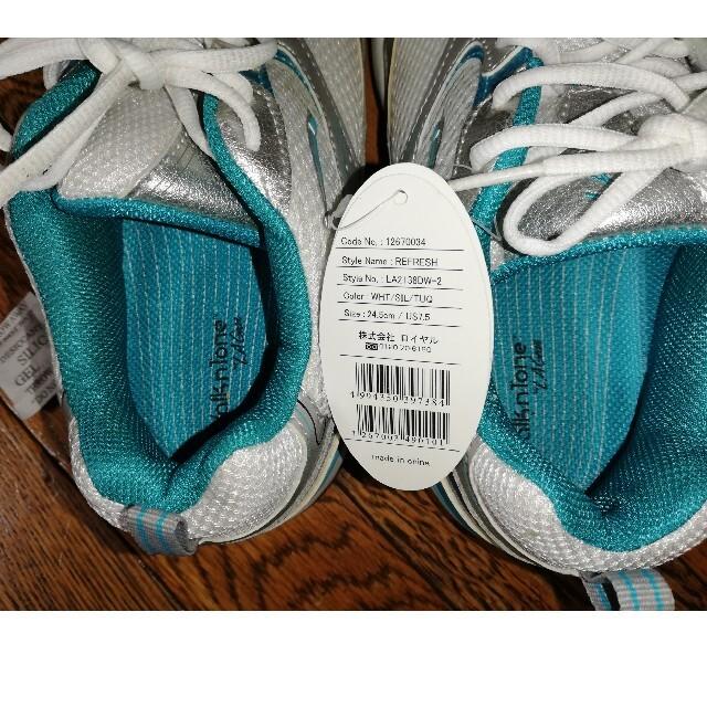 🖤 LAギア レディース ウォークン トーン 銀/白/青 シ レディースの靴/シューズ(スニーカー)の商品写真