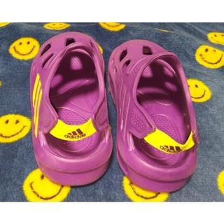 アディダス(adidas)のadidasキッズサンダル 紫(サンダル)