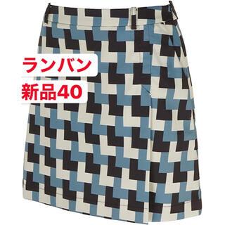 ランバン(LANVIN)の新品40  LANVIN SPORT ランバン レディーススカート 幾何模様(ウエア)
