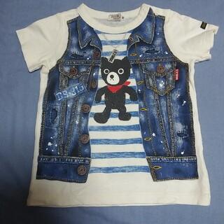 ダブルビー(DOUBLE.B)の美品 ミキハウス ダブルビー だまし絵 半袖 Tシャツ 90cm(Tシャツ/カットソー)