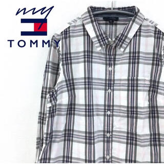 トミーヒルフィガー(TOMMY HILFIGER)の【大人気♪】トミーヒルフィガー 長袖シャツ チェック柄 L ロゴ刺繍 L9 FT(シャツ)