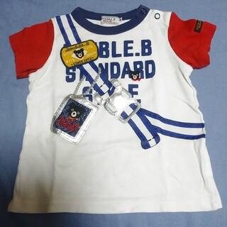 ダブルビー(DOUBLE.B)のミキハウス ダブルビー だまし絵 半袖 Tシャツ 80cm(Tシャツ)