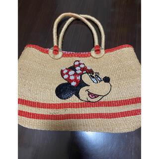 ディズニー(Disney)のミニーカゴバック(かごバッグ/ストローバッグ)