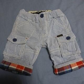 ダブルビー(DOUBLE.B)のミキハウス ダブルビー ヒッコリー 折り返し付き 半ズボン 90cm(パンツ/スパッツ)