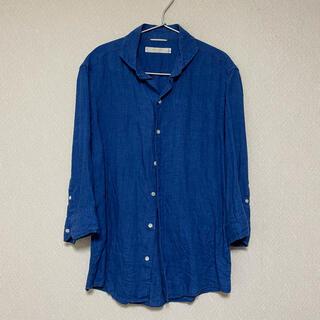 エディフィス(EDIFICE)のエディフィス EDIFICE フレンチ リネンシャツ 七分袖 サイズS(シャツ)