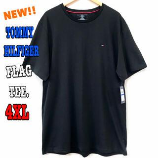 トミーヒルフィガー(TOMMY HILFIGER)の超ビッグ ☆ 新品 トミーヒルフィガー ワンポイント フラッグ Tシャツ 黒 (Tシャツ/カットソー(半袖/袖なし))
