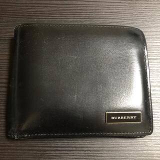 バーバリー(BURBERRY)のBURBERRY 二つ折り財布 黒(折り財布)