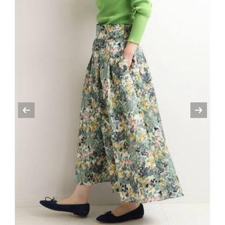 IENA - IENA イエナ かすれフラワー ギャザースカート 40