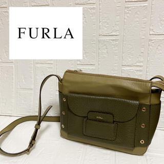 フルラ(Furla)の【美品】FURLA レザーショルダーバッグ(ショルダーバッグ)
