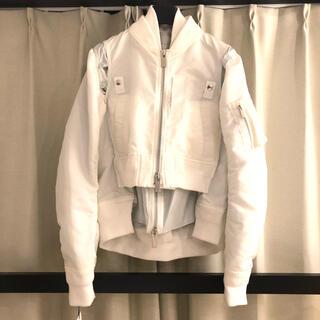 sacai - sacai 2020SS ボンバージャケット サイズ2  ホワイト