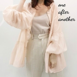 one after another NICE CLAUP - 新品 one after another シアーティアードチュニック