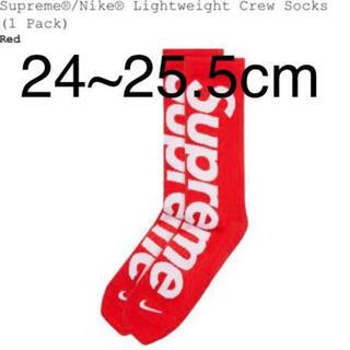 Supreme - Supreme Nike Lightweight Crew Socks Red