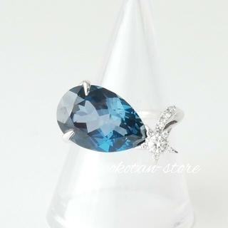 STAR JEWELRY - 極美品【スタージュエリー】NIGHT BLUE ブルートパーズ ダイヤ リング