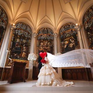 ウエディングロングベール 350cm 大聖堂 結婚式 ベールダウン可(ヘッドドレス/ドレス)