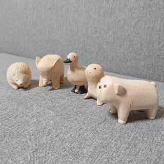 北欧 アニマル オブジェ 置物 木製