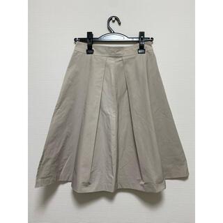 ノーブル(Noble)のNoble フレアスカート グレージュ(ひざ丈スカート)