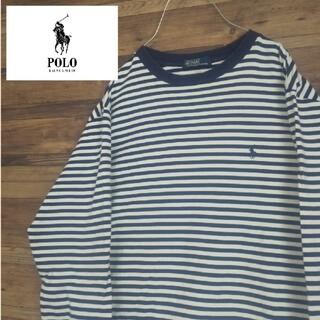 POLO RALPH LAUREN - ポロラルフローレンワンポイントロゴ 刺繍  90S ボーダー ロング Tシャツ