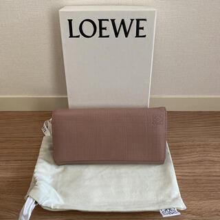 ロエベ(LOEWE)の状態良好 ロエベ   LOEWE リネン 長財布(財布)