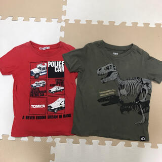 UNIQLO - 110センチ◆ユニクロ◆半袖Tシャツ◆2着セット◆UT◆トミカ◆恐竜