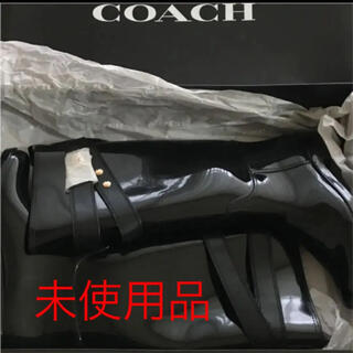 COACH - COACH レインブーツ  サイズ8 足幅細身の方向け