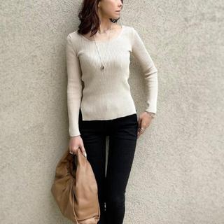 ダブルスタンダードクロージング(DOUBLE STANDARD CLOTHING)のLUGER by akko(ルガー) コットンフィットリブニット(ニット/セーター)
