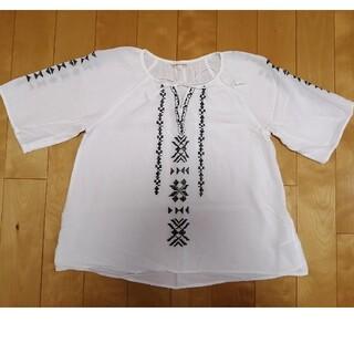 サンカンシオン(3can4on)の3can4on 刺繍 トップス(シャツ/ブラウス(半袖/袖なし))