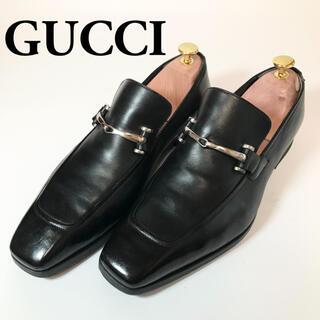 Gucci - GUCCI グッチ 24.5~25 ビットローファー 黒 ブラック