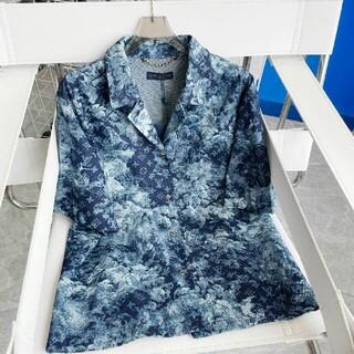ルイヴィトン(LOUIS VUITTON)の新しい反射バックフルレターロゴ半袖Tシャツ(Tシャツ(半袖/袖なし))