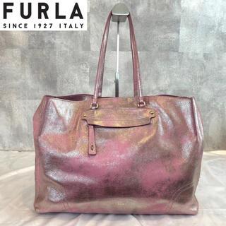 Furla - 【FURLA】フルラ 希少 SIBILLA シルバーピンク 牛革 トートバッグ